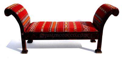 arabic bench moroccan kilim bench 1 700 u s http www justmorocco
