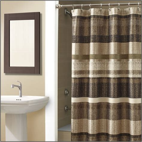 Bathroom Accessory Sets With Shower Curtain Green And Brown Shower Curtain Brown And Green Curtains Walmart Home Design Ideas Tsc