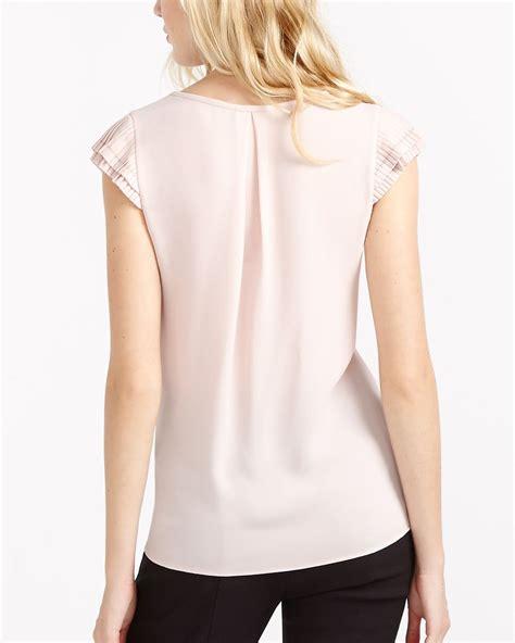 Pleated Sleeve Blouse pleated sleeve blouse reitmans