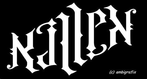 ambigram killen ambigrafix