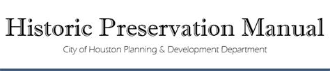 design guidelines for local historic districts city of houston historic preservation manual historic