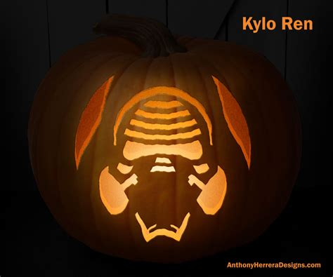 star wars themed pumpkin carving templates  give