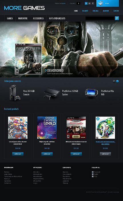 Games Consoles Prestashop Theme New Website Templates Pinterest Website Template Web Gaming Website Template