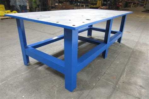 metal shop bench 48x96x32 quot tall steel welding layout work table bench 1