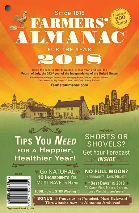 the almanac a seasonal guide to 2018 books farmers almanac releases national winter 2018 winter