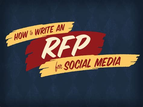 social media rfp template how to write an rfp for social media