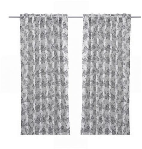 ikea black and white curtains ikea alvine bukett drapes curtains floral black white leaf