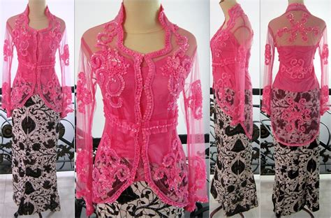 kebaya modern untuk wisuda warna pink jual kebaya baju cantik modern lengan panjang wisuda pesta