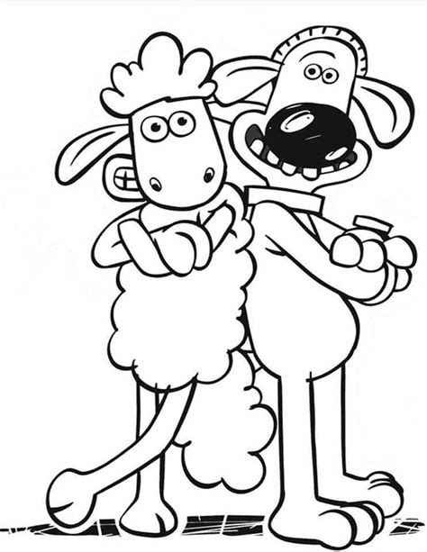 coloring page year of the sheep dibujo colorear la oveja shaun 1