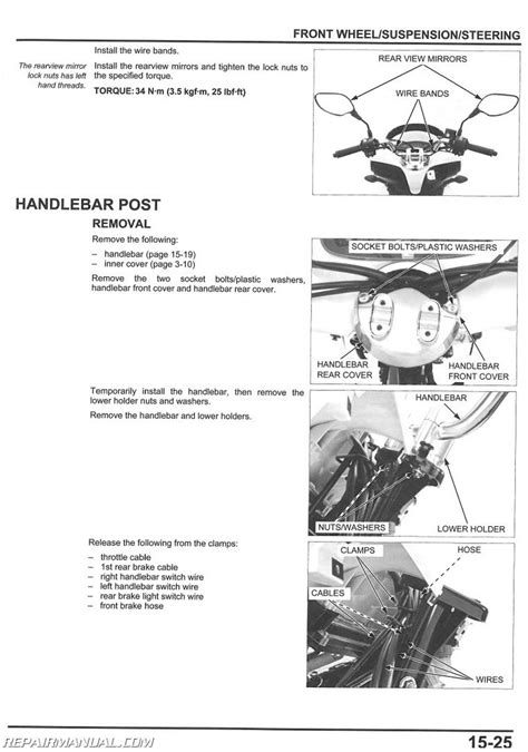 2011 honda pcx125 scooter service manual