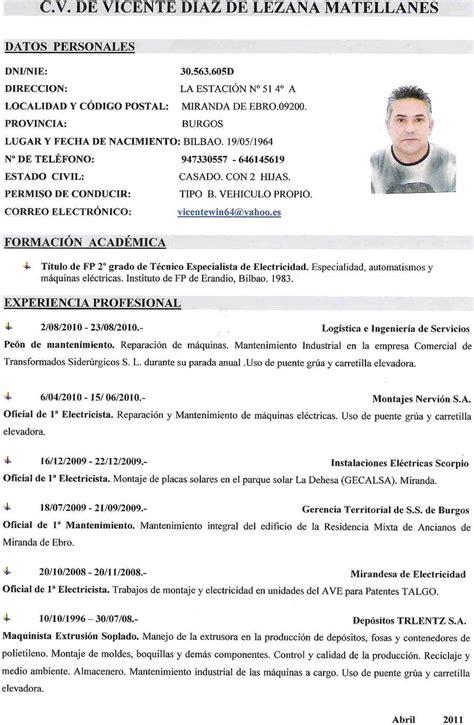Plantilla De Curriculum Español Curr Culums New Calendar Template Site