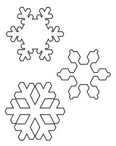7 best images of printable snowflake cutouts free