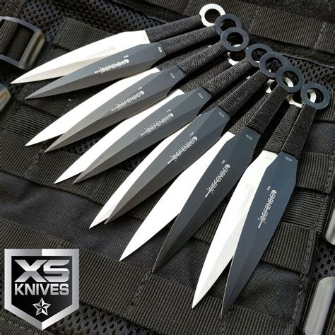 12pc jtec kunai 6 quot throwing knives knife