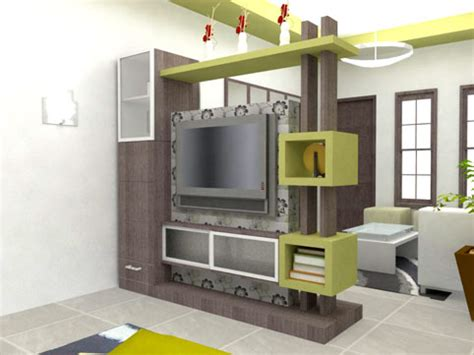 Lu Hias Meja Ruang Tamu lemari hias ruang tamu modern livedesain