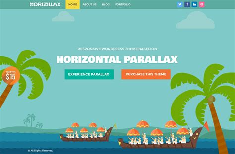 best responsive horizontal parallax scrolling html5