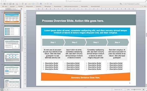 Project Proposal Powerpoint Template One Piece Template For Project Presentation