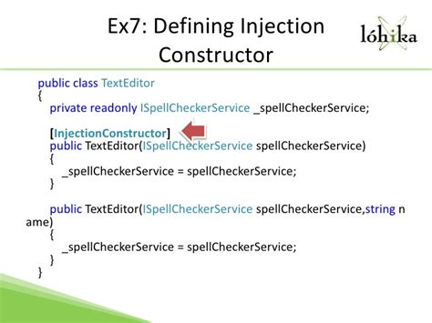 unity dependency injection setter dependency injection with unity 2 0 dmytro mindra lohika