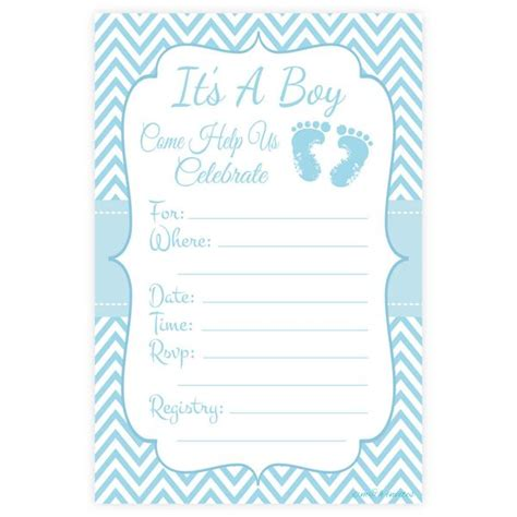 baby shower invitation lovely how to fill out a baby blue boy baby shower fill in invitations m h invites