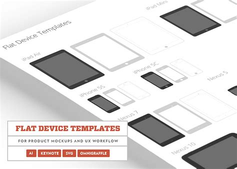 flat devices template psd creative beacon