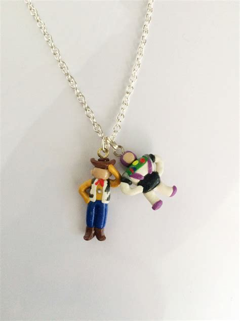 Toystory Woody Bracelet story woody and buzz clay charm bracelet or necklace