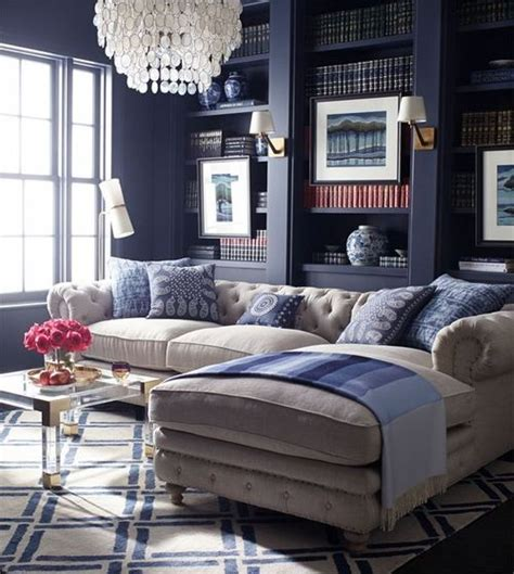 beautiful living room in deep navy beige htons inspired home pinterest lucite coffee