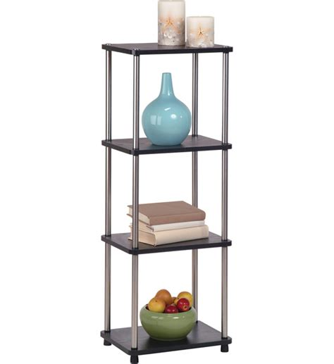 free standing bookshelves four tier contemporary free standing shelf in free standing shelves