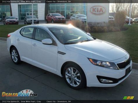 Kia Optima 2012 White 2012 Kia Optima Ex Snow White Pearl Gray Photo 1