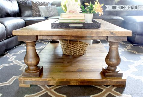 white balustrade coffee table diy projects