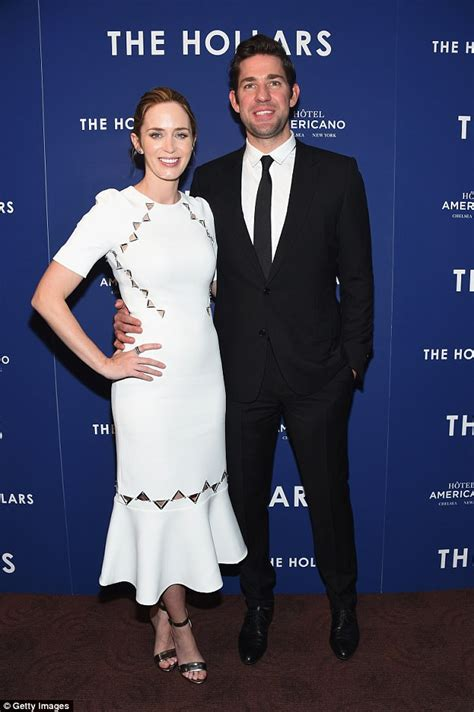 emily blunt wife john krasinski says it was love at first sight with wife
