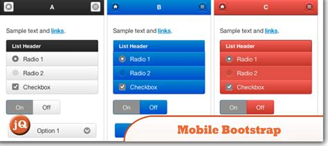 bootstrap templates for mobile app free top 10 jquery mobile bootstraps and templates sitepoint