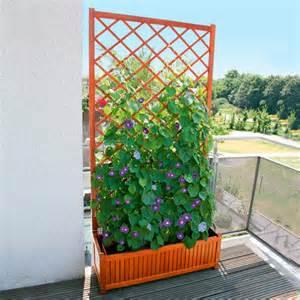 sichtschutz terrasse ohne bohren sichtschutz rankgitter guernsey mit pflanzkasten