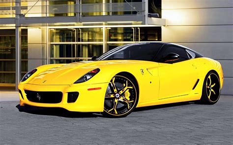 ferrari yellow car ferrari 599 gtb fiorano yellow car wallpaper 1680x1050
