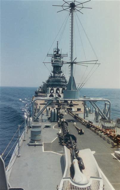 sle battleship foc sle forward mounts and bridge uss iowa bb 61