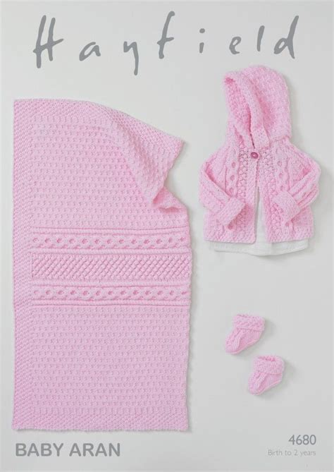 hayfield knitting patterns for babies hayfield baby jacket booties blanket knitting pattern