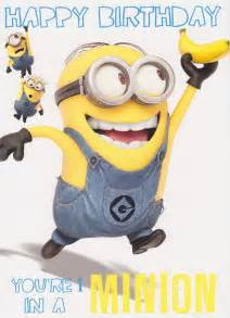 despicable me 2 1 in a minion birthday card cardspark