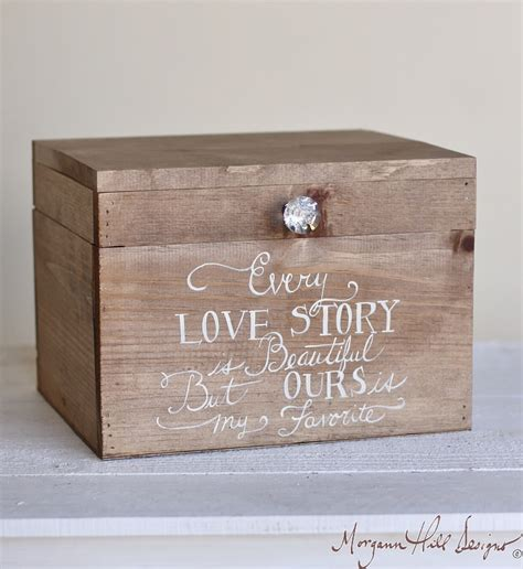 Wedding Keepsake Box by Morgann Hill Designs Wedding Card Box Rustic County Barn