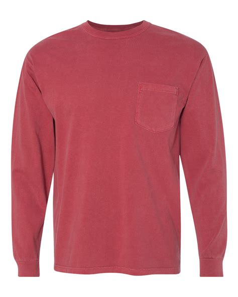 comfort colors long sleeve pocket comfort colors garment dyed ringspun long sleeve pocket