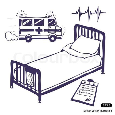 ambulance bed hospital bed and ambulance stock vector colourbox