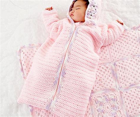 Baby Sleeper Patterns by Crochet Baby Sleeping Bag Pattern Crochet Kingdom