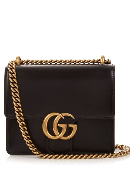 Gucci Crossbody 372180 Set 2 In 1 lyst gucci gg marmont leather cross bag in black
