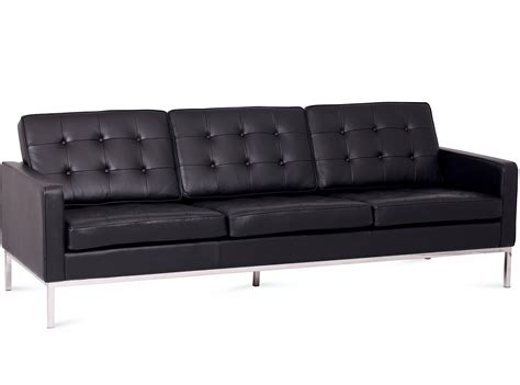 knoll replica sofa florence knoll sofa 3 seater leather platinum replica