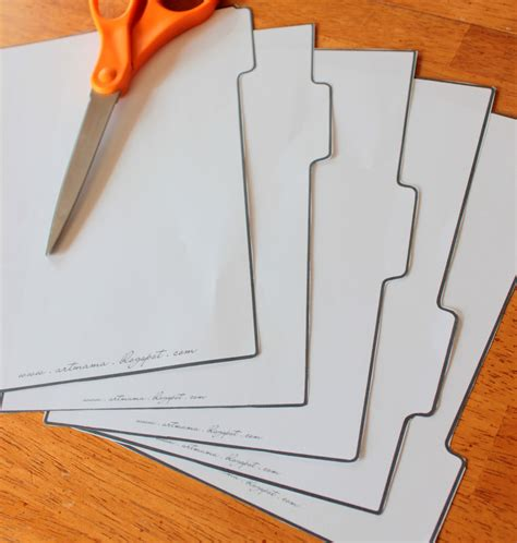 How To Make Paper Dividers - the of being binder tabs free printables