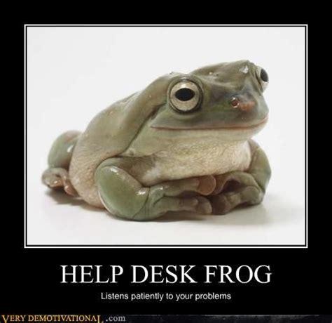 Help Desk Meme - helpdesk frog un poco de humor sobre cau centro de