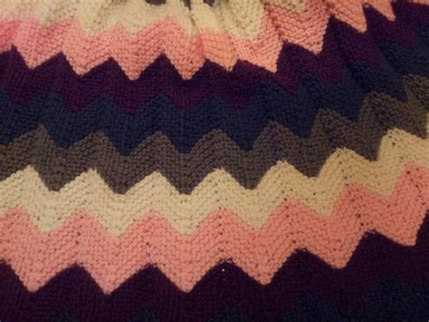 knit chevron pattern mosier farms knitted chevron ripple afghan