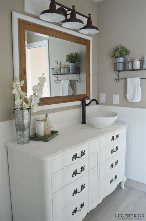 farmhouse bathroom vanity cabinets farmhouse master bathroom reveal little vintage nest