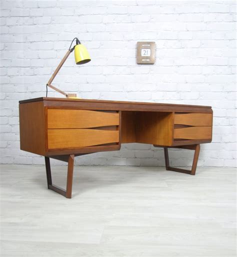 furniture 60s teak desk dressing table manufactured by white newton