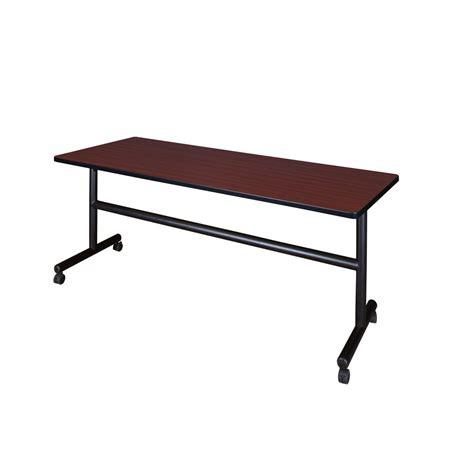 Regency Desk Fan 9 In Zds09 regency mahogany 72 in w x 24 in d flip top mobile table mkft7224mh the home depot