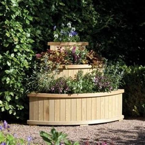 Cascade Wooden Planter by Rowlinson Marberry Wooden Pressure Treated Cascade Planter