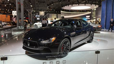 maserati ghibli blacked out maserati ghibli nerissimo puts on a black suit for a night out