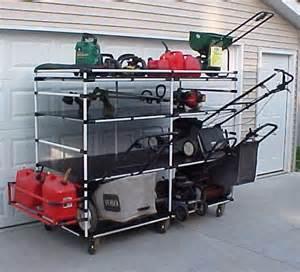 Garage Organization Lawn Mower Photos